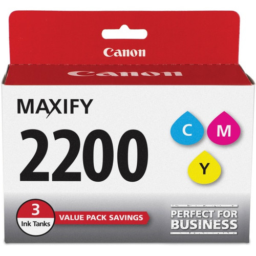 9304B005 | Canon PGI-2200 | Original Canon Ink Cartridge Combo Pack – Cyan, Magenta, Yellow