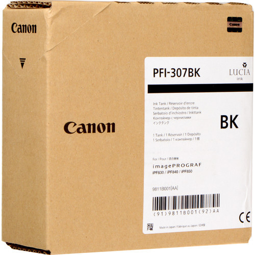 9811B001AA | Canon PFI-307 | Original Canon Ink Cartridge – Black
