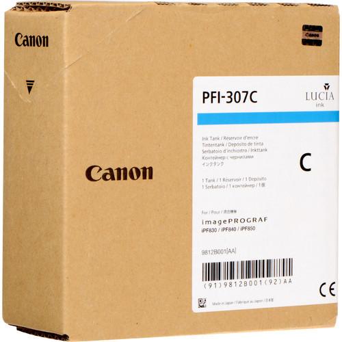 9812B001AA | Canon PFI-307 | Original Canon Ink Cartridge – Cyan