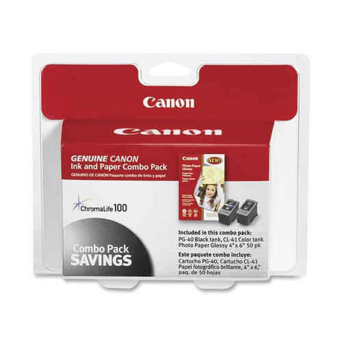 0615B009 | Canon PG-40/CL-41 | Original Canon Ink Cartridge/Paper Kit - Black, Cyan, Yellow, Magenta
