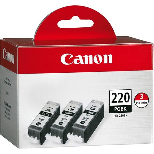 2945B004AA | Canon PGI-220 | Original Canon Ink Cartridge 3-Pack – Black
