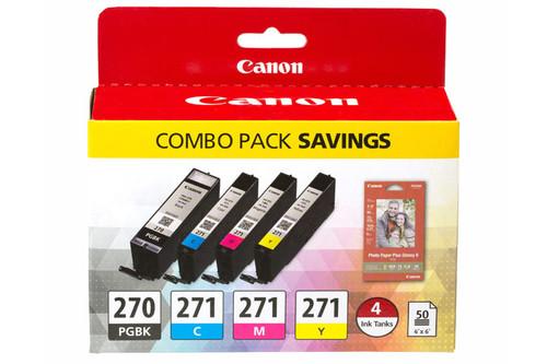 0373C005   Canon PGI-270/CLI271   Original Canon Ink Cartridges Combo Pack - Black, Cyan, Yellow, Magenta
