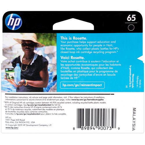 N9K02AN | HP 65 | Original HP Ink Cartridge - Black