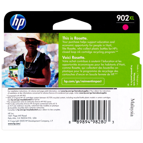 T6M06AN | HP 902XL | Original HP Ink Cartridge - Magenta