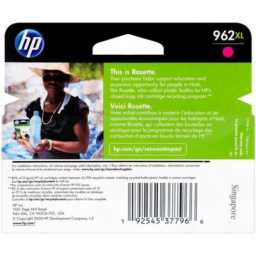 3JA01AN | HP 962XL | Original HP Ink Cartridge - Magenta
