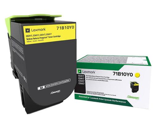 71B10Y0   Original Lexmark Toner Cartridge – Yellow