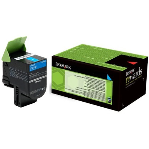 24B6008   Original Lexmark Genuine OEM Toner Cartridge - Cyan