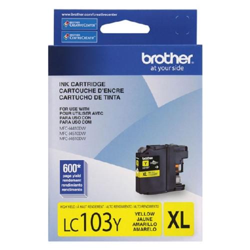 Original Brother LC103Y OEM ink for MFCJ4410, MFCJ4610DW.
