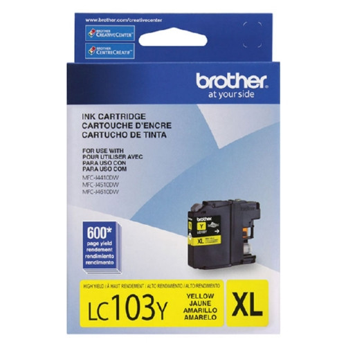 LC-103   Original Brother High-Yield Ink Cartridge – Yellow