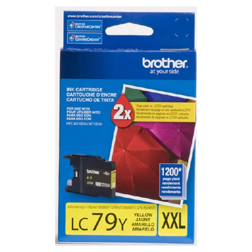 Original Brother LC79Y OEM ink for Brother® Brother® MFC-J6510dw, J6710dw, J6910dw.