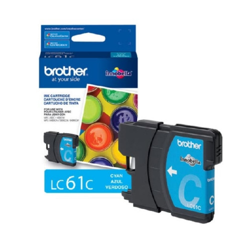 Original Brother LC61C OEM ink for Brother® DCP165c, 375w, 385c, 395cn, 585cw, J125c, 258c, 255cw, MFC-290c, 295cn, 490cw, 495cw, 790cw, 795cw, 5490cn, 5895cw, 6490cw, 6890cdw, J220, J265w, J270w, J410w, J415w, J615w, J630w.