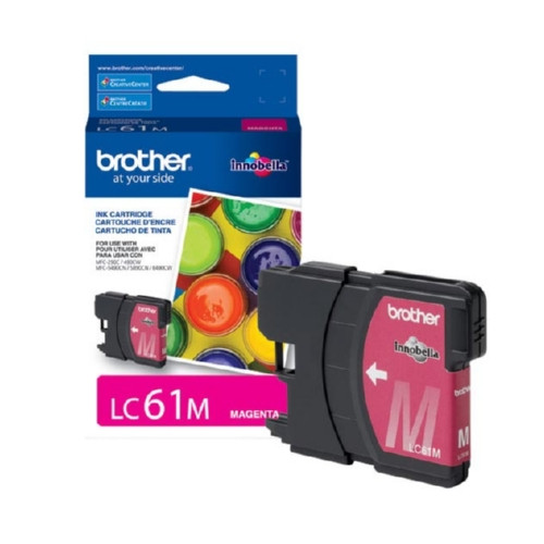 Original Brother LC61M OEM ink for Brother® DCP165c, 375w, 385c, 395cn, 585cw, J125c, 258c, 255cw, MFC-290c, 295cn, 490cw, 495cw, 790cw, 795cw, 5490cn, 5895cw, 6490cw, 6890cdw, J220, J265w, J270w, J410w, J415w, J615w, J630w.