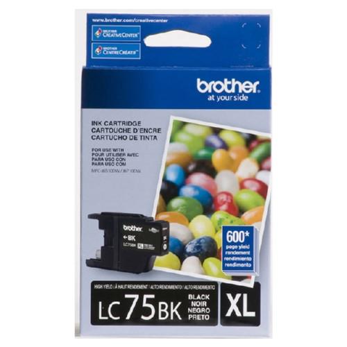 Original Brother LC75BK OEM ink for Brother® MFC-J6510dw, J6710dw, J6910dw.