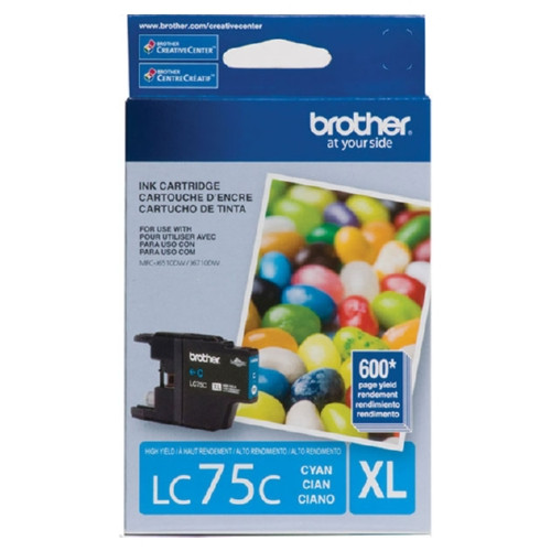 Original Brother LC75C OEM ink for Brother® MFC-J6510dw, J6710dw, J6910dw.