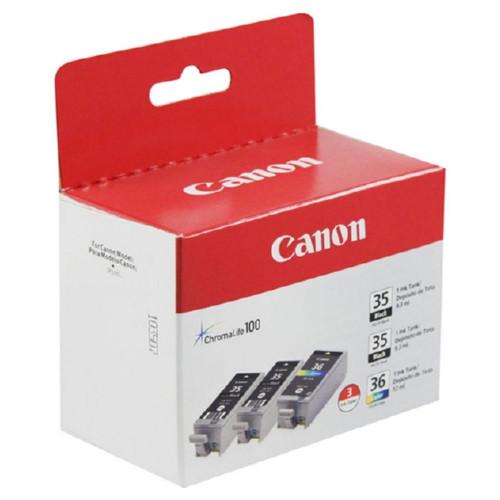 1509B007 | Canon PGI35/CLI36 | Original Canon Ink Cartridge Value Packs - Black, Tri-Color