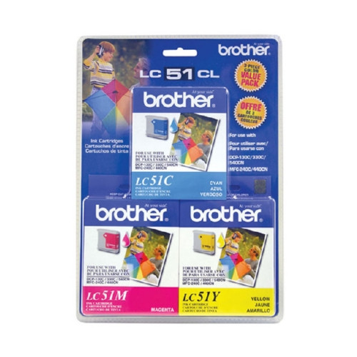 Original Brother LC513PKS OEM inkjet cartridge for Brother® Fax 1360, 1860C, 1960C, 2480C, MFC-240C, 440CN, 665CW, 845CW, 3360C, 5460CN produces 400 pages at 5% coverage.