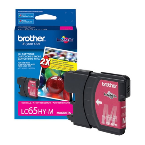 Original Brother LC65HYM OEM inkjet cartridge for Brother® MFC5890CN, MFC6490CW.