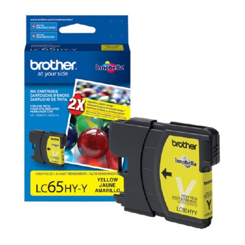 Original Brother LC65HYY OEM inkjet cartridge for Brother® MFC5890CN, MFC6490CW.