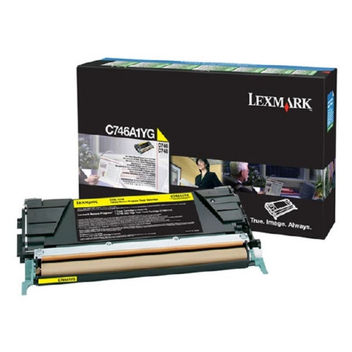 C746A1YG | Original Lexmark Toner Cartridge – Yellow
