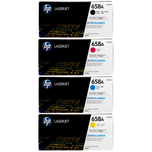 Original HP 658A SET | W2000A W2001A W2002A W2003A | LaserJet Toner Cartridges - Black, Cyan, Magenta, Yellow