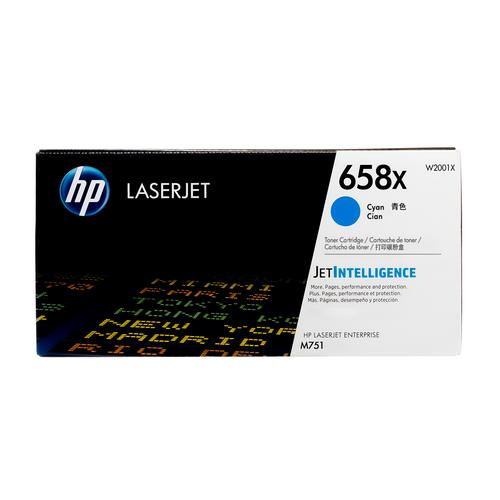 W2001X | HP 658X | Original HP LaserJet High-Yield Toner Cartridge - Cyan