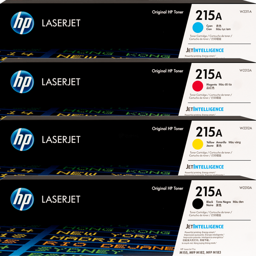 Original HP 215A SET W2310A W2311A W2312A W2313A Black Cyan Magenta Yellow LaserJet Toner Cartridges