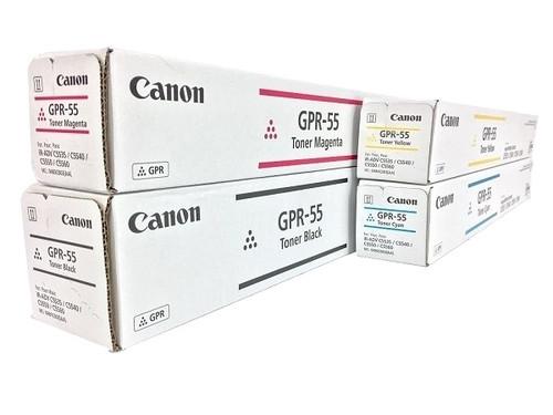 Canon GPR-55 Set   Original Canon Laser Toner Cartridges – Black, Cyan, Magenta, Yellow