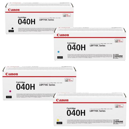 Canon 040H Set   Original Canon Laser Toner Cartridges – Black, Cyan, Magenta, Yellow