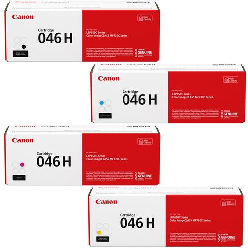 Canon 046H Set   Original Canon Laser Toner Cartridges – Black, Cyan, Magenta, Yellow