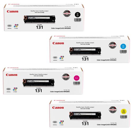Canon 131 Set   Original Canon Laser Toner Cartridges – Black, Cyan, Magenta, Yellow