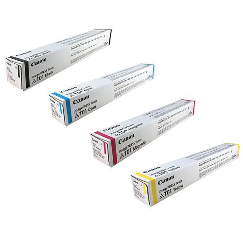 Canon T01 Set   Original Canon Laser Toner Cartridges – Black, Cyan, Magenta, Yellow