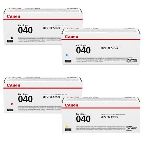 Canon 040 Set | Original Canon Laser Toner Cartridges – Black, Cyan, Magenta, Yellow