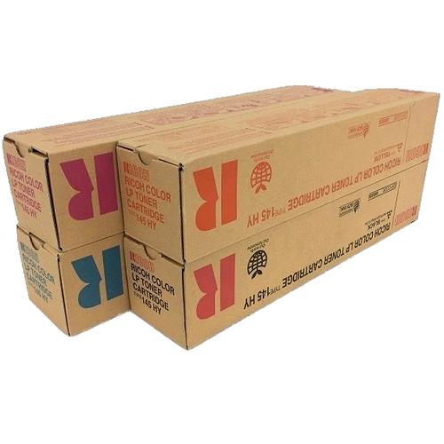 Ricoh Type 145HY Set | 888308 888309 888310 888311 | Original Ricoh Laser Toner Cartridges – Black, Cyan, Magenta, Yellow