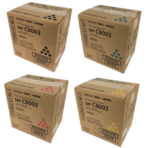 Ricoh MP-C8003 Set | 842196 842197 842198 842199 | Original Ricoh Laser Toner Cartridges – Black, Cyan, Magenta, Yellow
