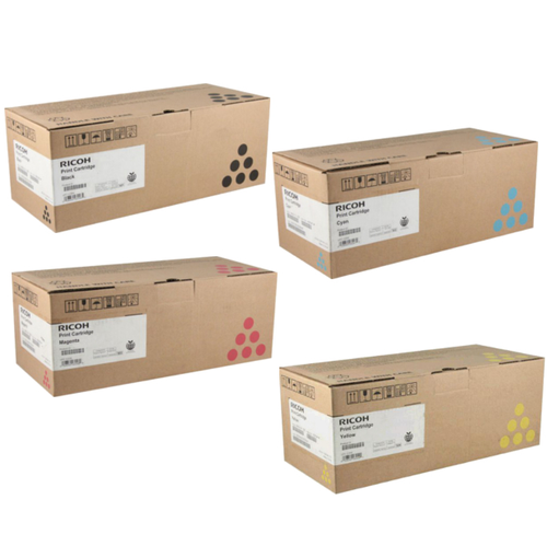 Ricoh SP-C220 Set | 406044 406046 406047 406048 | Original Ricoh Laser Toner Cartridges – Black, Cyan, Magenta, Yellow