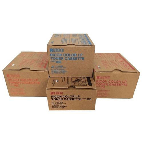 Ricoh Type 105 Set   885372 885373 885374 885375   Original Ricoh Laser Toner Cartridges – Black, Cyan, Magenta, Yellow