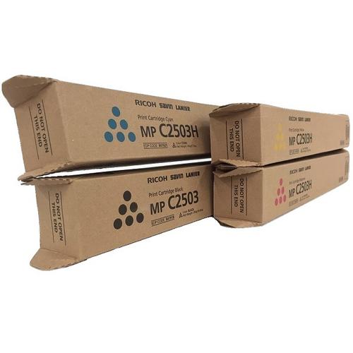 Ricoh MP-C2503 Set | 841918 841919 841920 841921 | Original Ricoh Laser Toner Cartridges – Black, Cyan, Magenta, Yellow