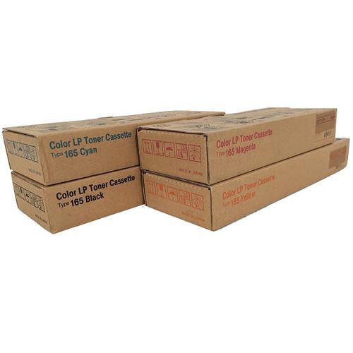 Ricoh Type 165 Set | 402552 402553 402554 402555 | Original Ricoh Laser Toner Cartridges – Black, Cyan, Magenta, Yellow