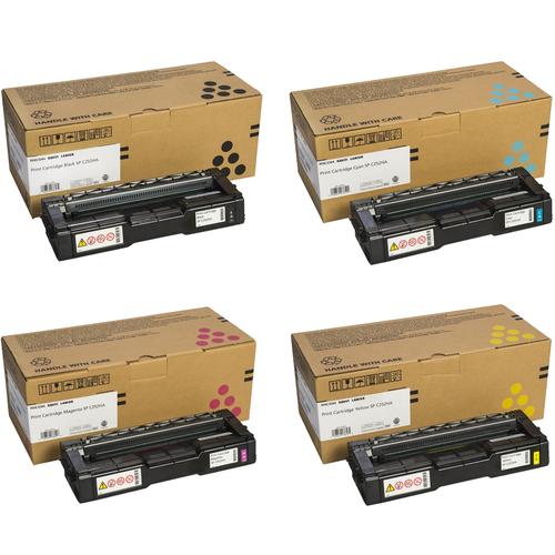 Ricoh SP-C252HA Set | 407653 407654 407655 407656 | Original Ricoh Laser Toner Cartridges – Black, Cyan, Magenta, Yellow