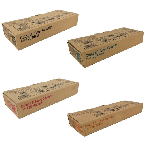 Ricoh Type 125 Set | 400963 400969 400975 400981 | Original Ricoh Laser Toner Cartridges – Black, Cyan, Magenta, Yellow
