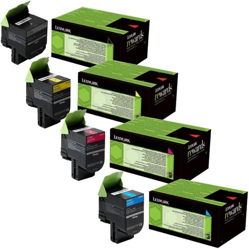 Lexmark XC2130 Set   24B6008 24B6009 24B6010 24B6011   Original Lexmark Toner Cartridges – Black, Cyan, Magenta, Yellow