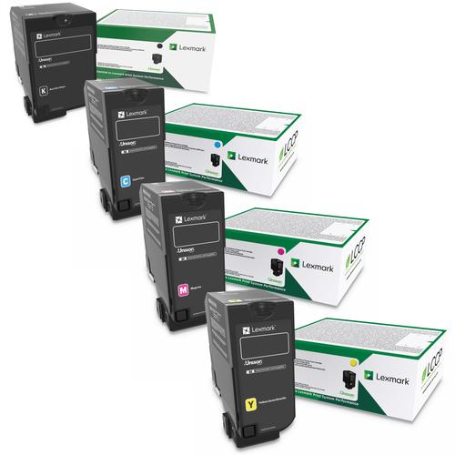 Lexmark 84C0HG Set   84C0HCG 84C0HKG 84C0HMG 84C0HYG   Original Lexmark Extra High-Yield Toner Cartridges – Black, Cyan, Magenta, Yellow