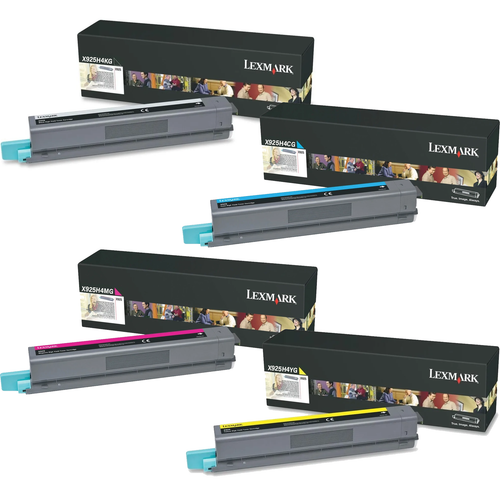 Lexmark X925H4 Set   X925H4CG X925H4KG X925H4MG X925H4YG   Original Lexmark High-Yield Toner Cartridges – Black, Cyan, Magenta, Yellow