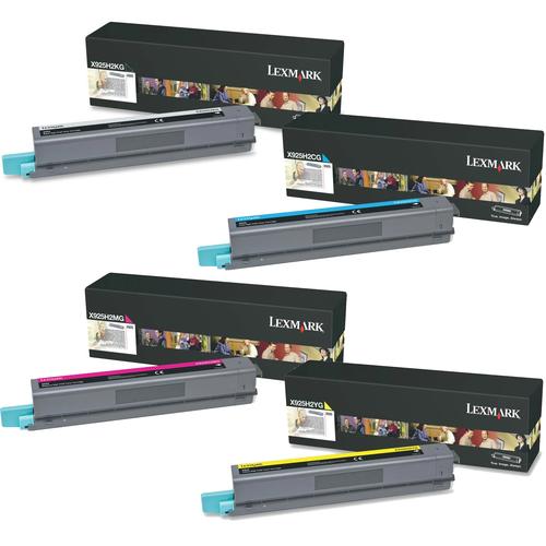 Lexmark X925H2 Set | X925H2CG X925H2KG X925H2MG X925H2YG | Original Lexmark High-Yield Toner Cartridges – Black, Cyan, Magenta, Yellow