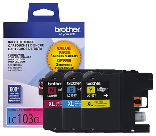 Original Brother LC-103 Ink Cartridges Pack Of 3