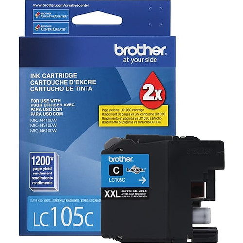 Original Brother LC-105 Cyan Ink Cartridge