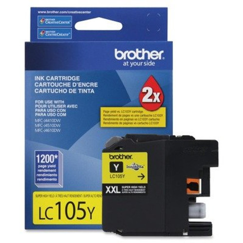 Original Brother LC-105Y Yellow Extra High Yield Ink Cartridge