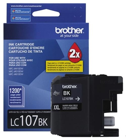 Original Brother LC-107 Black Super High-Yield Ink Cartridge