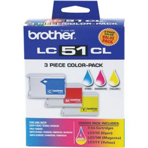 Original Brother LC-51CL LC-51CL3PK Tri-Color Ink Cartridges Triple Pack