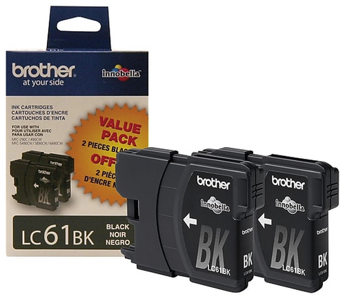 Brother LC-61 Ink Cartridges Pack of 2